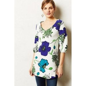 Anthropologie Deletta floral tunic top